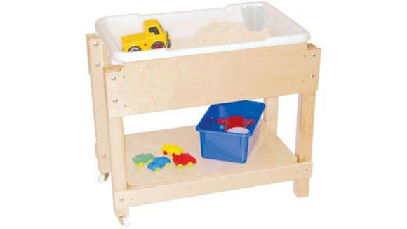 Activity & Play Wood Designs Petite Sand & Water/Sensory Table with Lid/Shelf