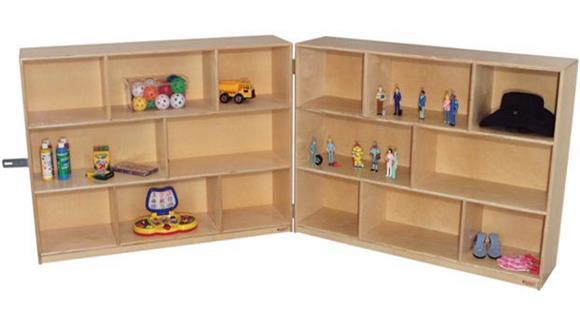 Storage Cubes & Cubbies Wood Designs 36inH Folding Storage Unit