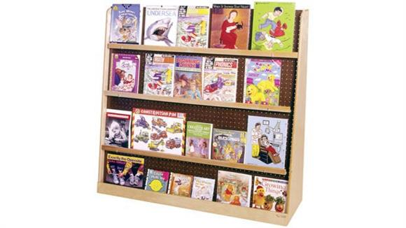 Book & Library Carts Wood Designs Jumbo Double-Sided Book Display