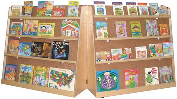Bookcases Wood Designs Hinged Double-Sided Book Display