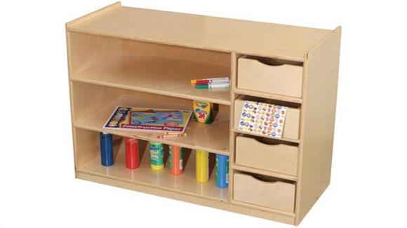 Storage Cubes & Cubbies Wood Designs Storage Center with Drawers
