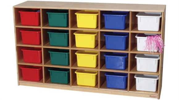 Storage Cubes & Cubbies Wood Designs 20 Tray Cubby Storage Cabinet