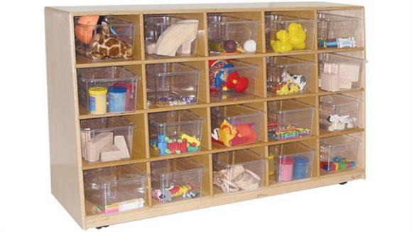Storage Cubes & Cubbies Wood Designs Tip-Me-Not 20-Tray Storage Unit
