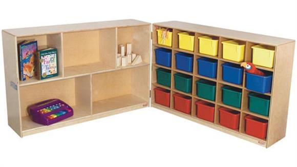 Storage Cubes & Cubbies Wood Designs 20-Tray & Shelf Folding Storage