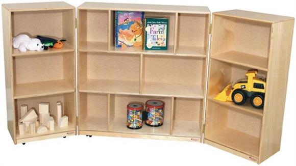 Storage Cubes & Cubbies Wood Designs 3-Section Folding Storage