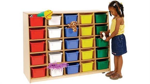 Storage Cubes & Cubbies Wood Designs Tip-Me-Not 25-Tray Storage Unit