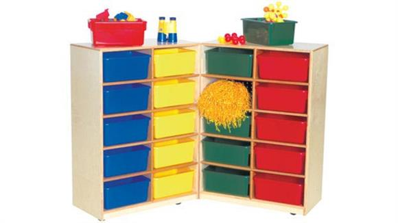 Storage Cubes & Cubbies Wood Designs 20-Tray Folding Storage