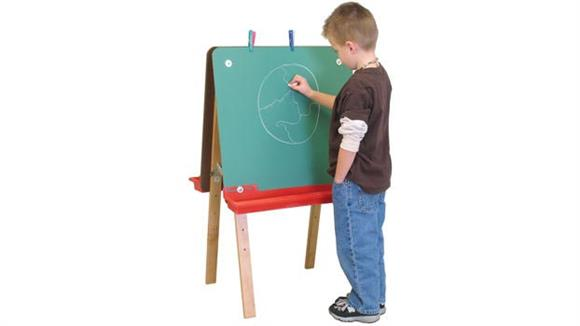 Activity & Play Wood Designs Tot-Size Double Chalkboard Easel