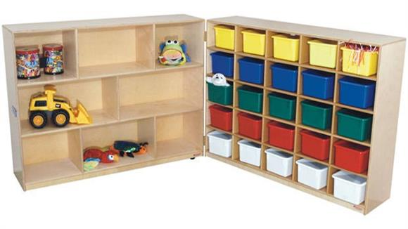 Storage Cubes & Cubbies Wood Designs 25-Tray & Shelf Folding Storage