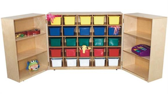 Storage Cubes & Cubbies Wood Designs 25-Tray Tri-Fold Storage