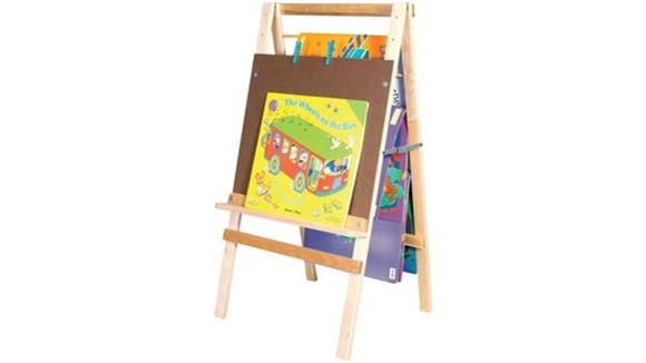 Activity & Play Wood Designs Big Book Easel & Hanging Storage
