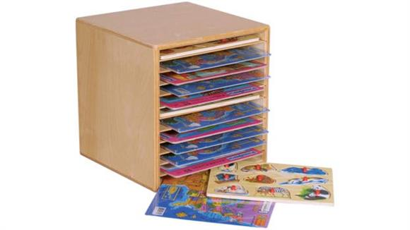 Storage Cabinets Wood Designs Table Top Puzzle Rack