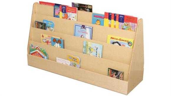 Bookcases Wood Designs X-Tra Wide Double-Sided Book Display