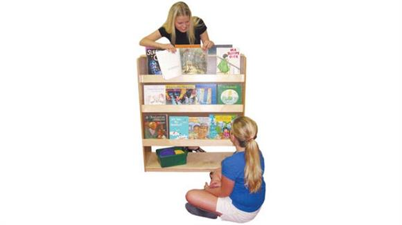 Bookcases Wood Designs Deluxe Double-Sided Library