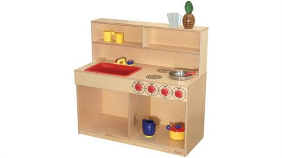 Activity & Play Wood Designs Tot-Size Multi-Kitchen Center