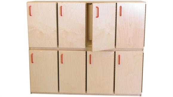 Lockers Wood Designs Stacking Locker with Doors