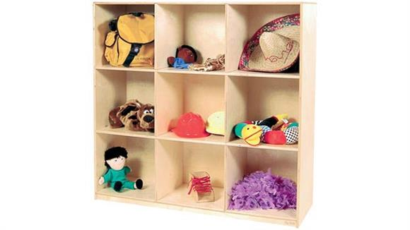 Storage Cabinets Wood Designs Deep 9-Cubby Storage