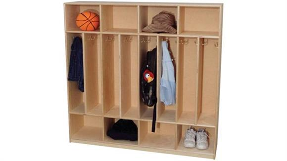 Lockers Wood Designs 8-Section Space Saver Locker