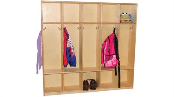 Lockers Wood Designs 10-Section Double Sided Locker