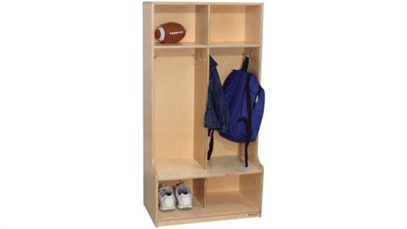 Lockers Wood Designs 2-Section Offset Locker