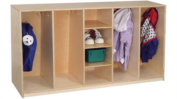 Lockers Wood Designs Tip-Me-Not 30in High Tot Locker