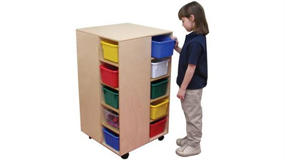 Storage Cubes & Cubbies Wood Designs Space-Saver Cubby Spinner