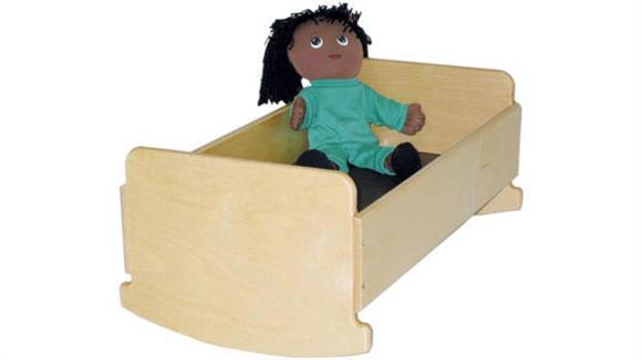 Activity & Play Wood Designs Doll Cradle