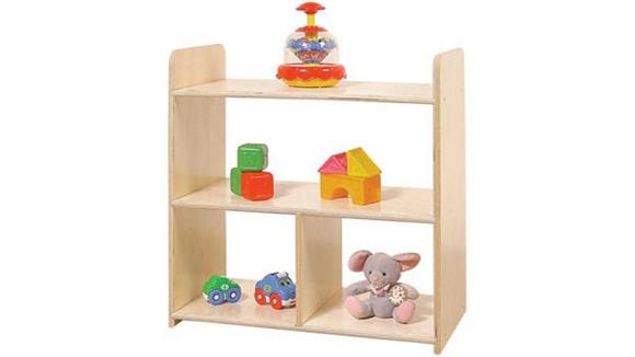 Shelving Wood Designs Tot-Size Pass Through Shelves