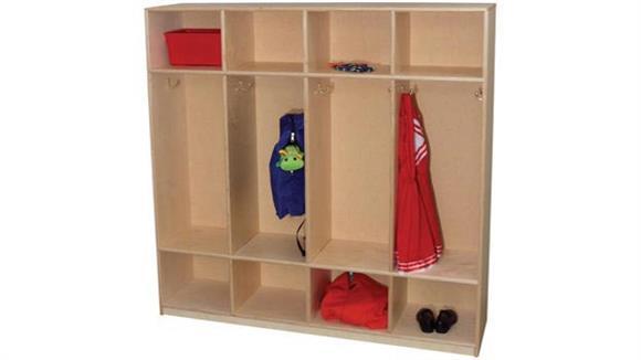 Lockers Wood Designs 4-Section Locker