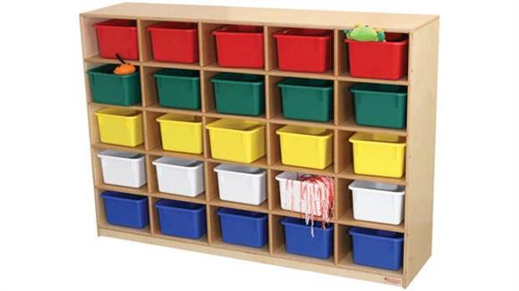 Storage Cubes & Cubbies Wood Designs 25 Tray Cubby Storage Cabinet