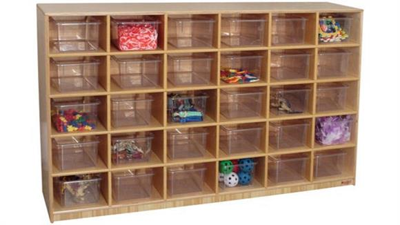 Storage Cubes & Cubbies Wood Designs 30 Tray Cubby Storage Cabinet