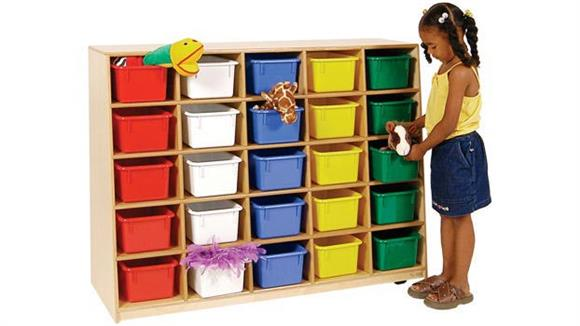 Storage Cubes & Cubbies Wood Designs Tip-Me-Not 25-Tray Storage Unit