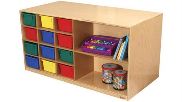 Storage Cubes & Cubbies Wood Designs Double-Sided Mobile Storage