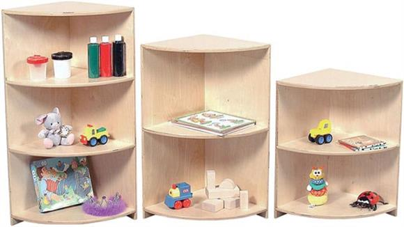 "Bookcases Wood Designs 24"" Corner Cabinet"