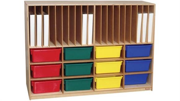 Storage Cubes & Cubbies Wood Designs Tip-Me-Not Portfolio Storage Center