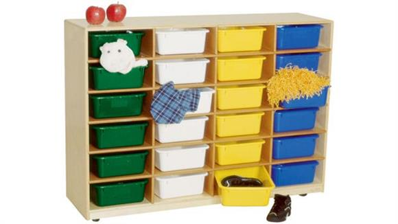 Storage Cubes & Cubbies Wood Designs 24-Larger Tray Storage Unit