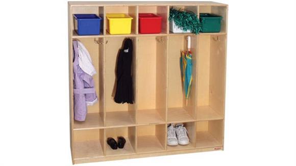 Lockers Wood Designs 5-Section Locker