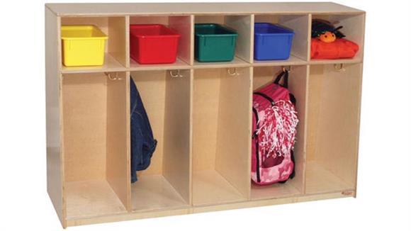 """Lockers Wood Designs Tip-Me-Not 36"""" High Tot Locker"""