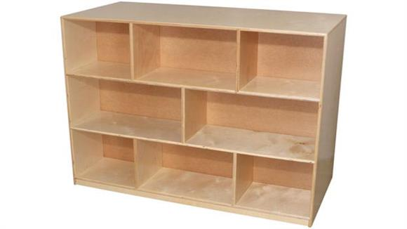 Storage Cubes & Cubbies Wood Designs High Mobile Double Storage Island
