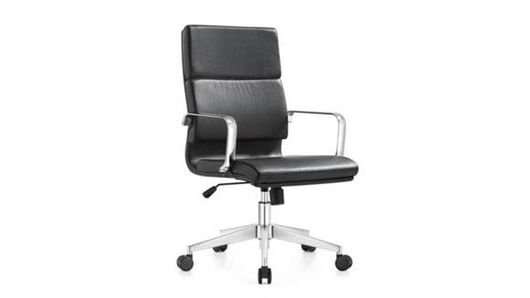 Office Chairs Woodstock Mid Back Leather Swivel Chair