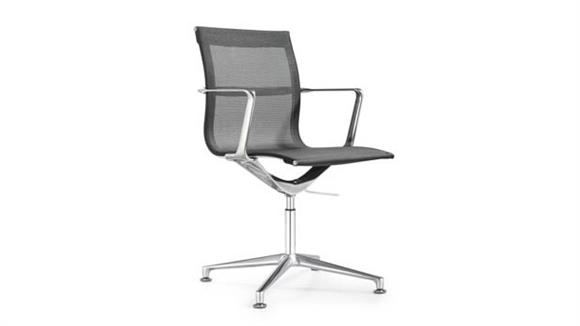 Side & Guest Chairs Woodstock Side Swivel Chair with Glides