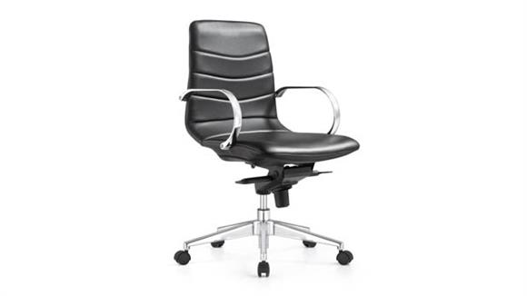 Office Chairs Woodstock Mid Back Leather Knee Tilt Chair