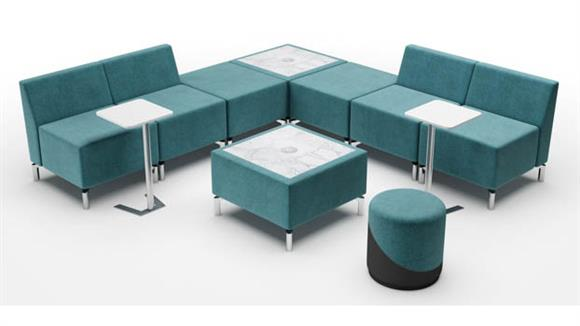 Accent Chairs Woodstock L Shape 2 Tables Configuration Lounge