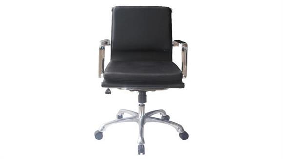 Office Chairs Woodstock Hendrix Mid Back Leather Chair