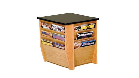 End Tables Wooden Mallet End Table with Magazine Pockets