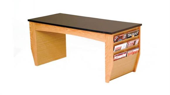 Coffee Tables Wooden Mallet Coffee Table with Magazine Pockets