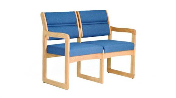 Side & Guest Chairs Wooden Mallet Double Sled Base Sofa