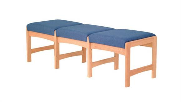 Side & Guest Chairs Wooden Mallet Triple Reception Bench