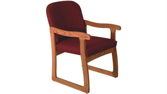 Side & Guest Chairs Wooden Mallet Single Sled Base Chair with Arms