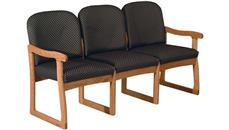 Side & Guest Chairs Wooden Mallet Triple Sled Base Sofa